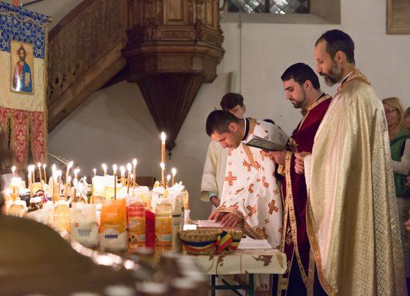 Taina Sf. Maslu, săvărșită împreună cu P.S. Sofian. A avut loc vineri, 16 Noiembrie, ora 19.00